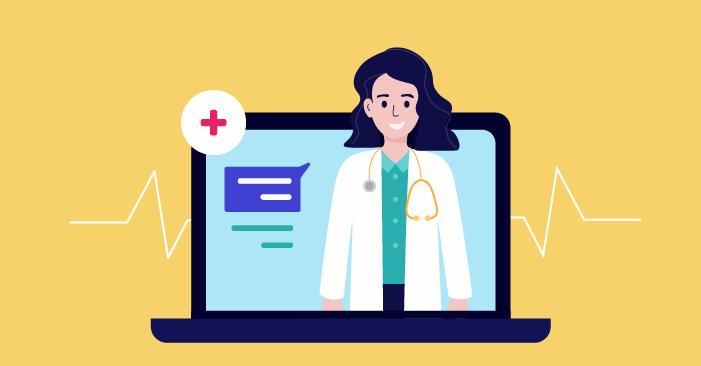 Лекар, който предлага услуги онлайн