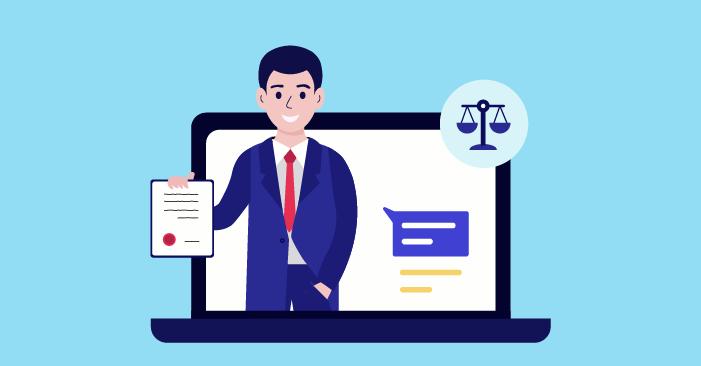 Адвокат, предоставящ онлайн консултация
